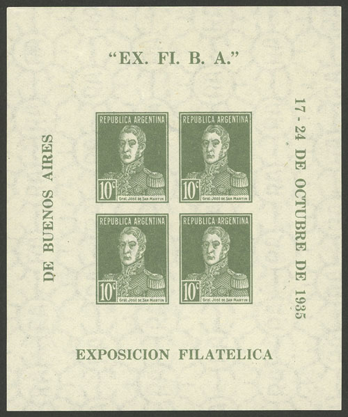 Lot 720 - Argentina souvenir sheets -  Guillermo Jalil - Philatino Auction # 2113 ARGENTINA: