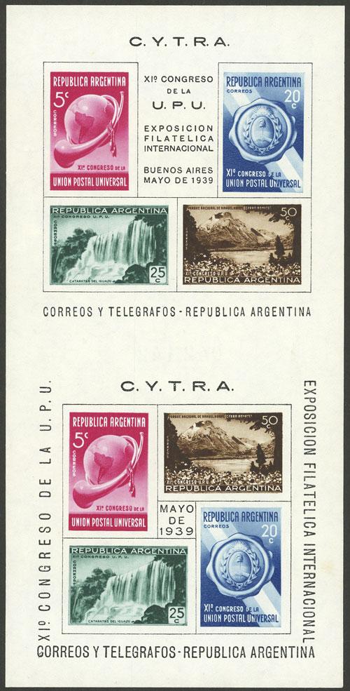 Lot 722 - Argentina souvenir sheets -  Guillermo Jalil - Philatino Auction # 2113 ARGENTINA: