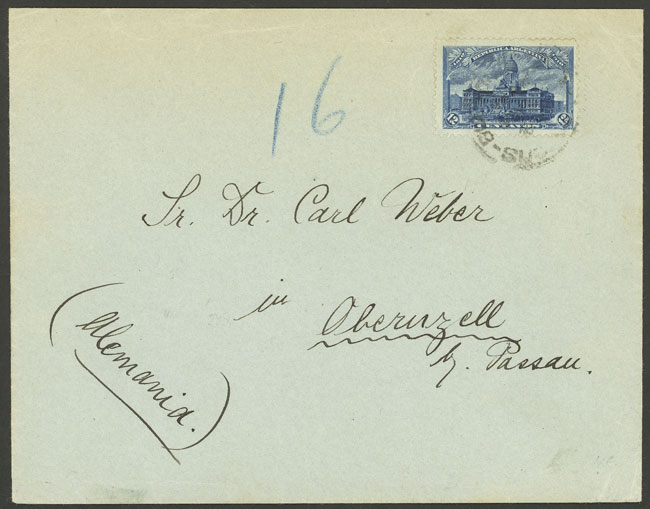 Lot 904 - Argentina postal history -  Guillermo Jalil - Philatino Auction # 2113 ARGENTINA: