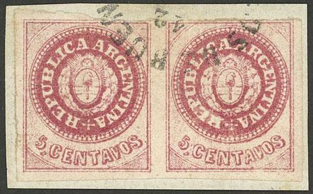 Lot 17 - Argentina escuditos -  Guillermo Jalil - Philatino Auction # 2113 ARGENTINA: