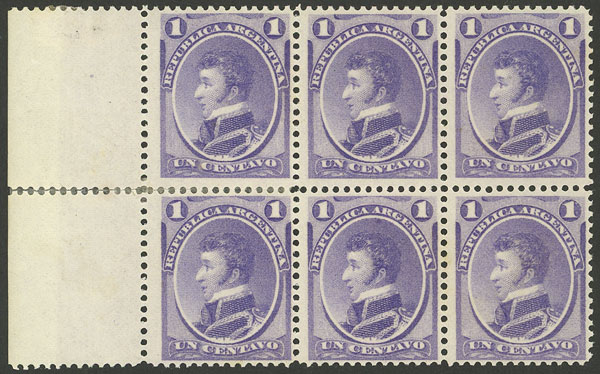 Lot 46 - Argentina general issues -  Guillermo Jalil - Philatino Auction # 2113 ARGENTINA: