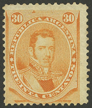 Lot 63 - Argentina general issues -  Guillermo Jalil - Philatino Auction # 2113 ARGENTINA: