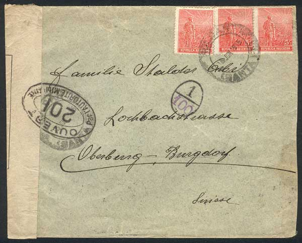 Lot 893 - Argentina postal history -  Guillermo Jalil - Philatino Auction # 2113 ARGENTINA: