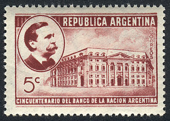 Lot 349 - Argentina general issues -  Guillermo Jalil - Philatino Auction # 2113 ARGENTINA: