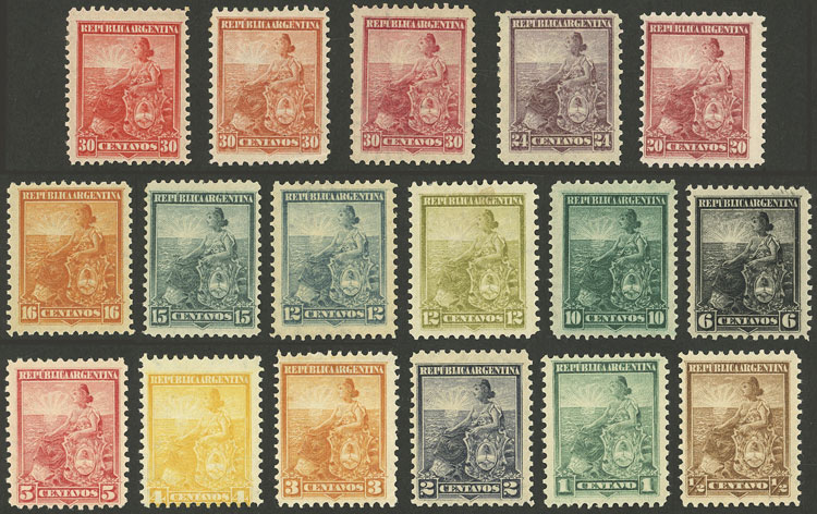 Lot 126 - Argentina general issues -  Guillermo Jalil - Philatino Auction # 2113 ARGENTINA: