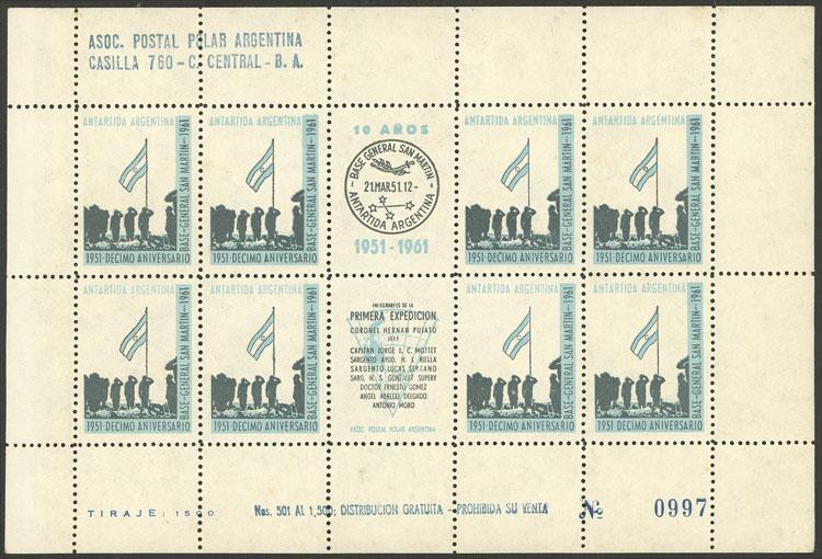 Lot 3 - argentine antarctica cinderellas -  Guillermo Jalil - Philatino Auction # 2113 ARGENTINA: