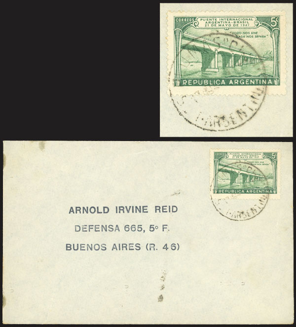 Lot 936 - Argentina postal history -  Guillermo Jalil - Philatino Auction # 2113 ARGENTINA: