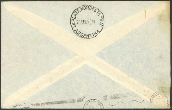 Lot 937 - Argentina postal history -  Guillermo Jalil - Philatino Auction # 2113 ARGENTINA: