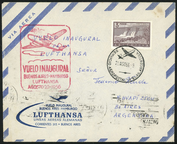 Lot 959 - Argentina postal history -  Guillermo Jalil - Philatino Auction # 2113 ARGENTINA: