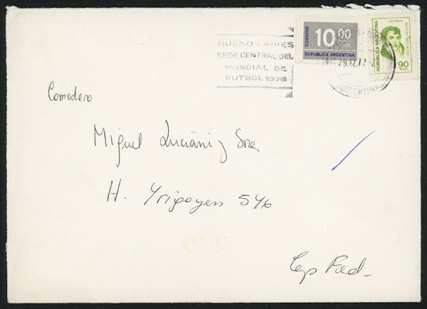 Lot 975 - Argentina postal history -  Guillermo Jalil - Philatino Auction # 2113 ARGENTINA: