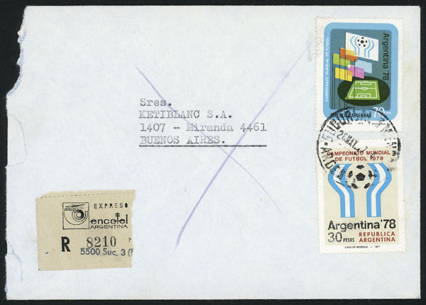 Lot 896 - Argentina postal history -  Guillermo Jalil - Philatino Auction # 2113 ARGENTINA: