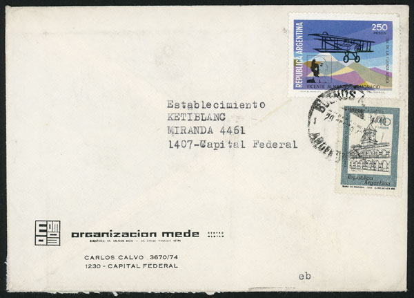 Lot 977 - Argentina postal history -  Guillermo Jalil - Philatino Auction # 2113 ARGENTINA: