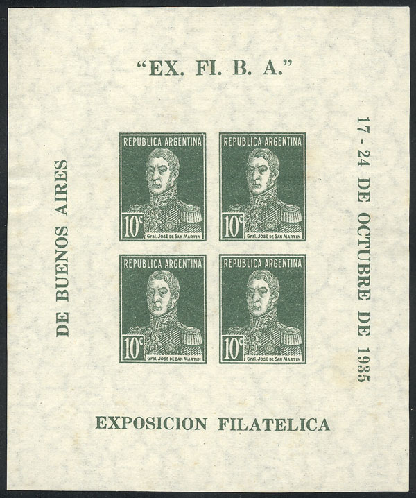 Lot 719 - Argentina souvenir sheets -  Guillermo Jalil - Philatino Auction # 2113 ARGENTINA: