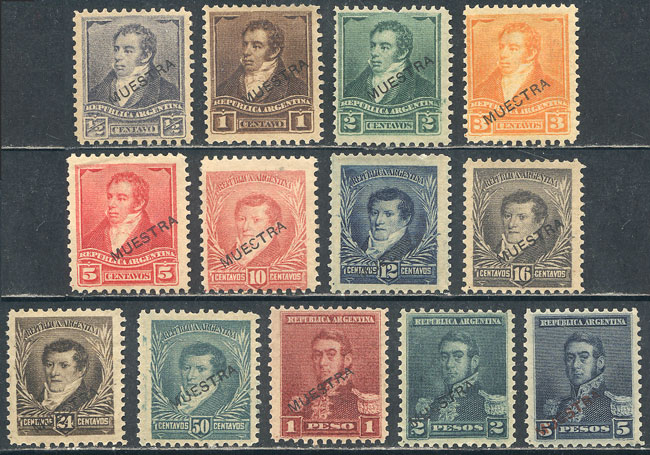 Lot 117 - Argentina general issues -  Guillermo Jalil - Philatino Auction # 2113 ARGENTINA: