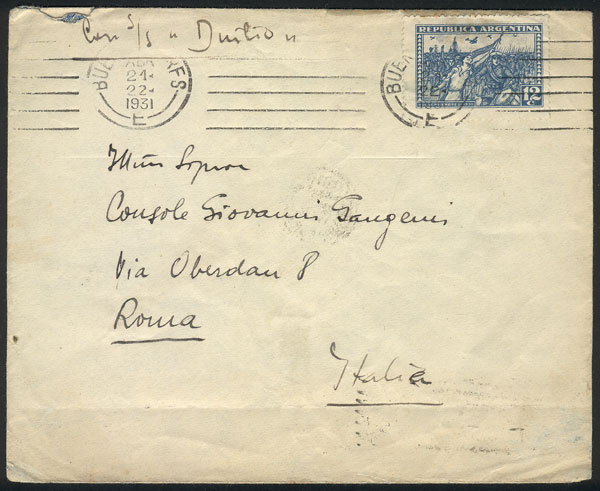 Lot 920 - Argentina postal history -  Guillermo Jalil - Philatino Auction # 2113 ARGENTINA: