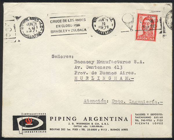 Lot 971 - Argentina postal history -  Guillermo Jalil - Philatino Auction # 2113 ARGENTINA: