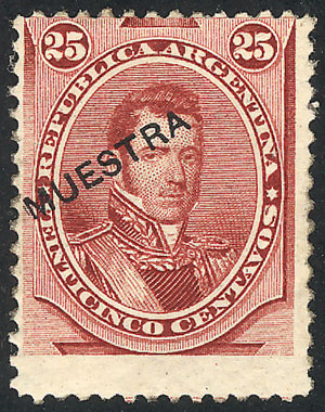 Lot 81 - Argentina general issues -  Guillermo Jalil - Philatino Auction # 2113 ARGENTINA: