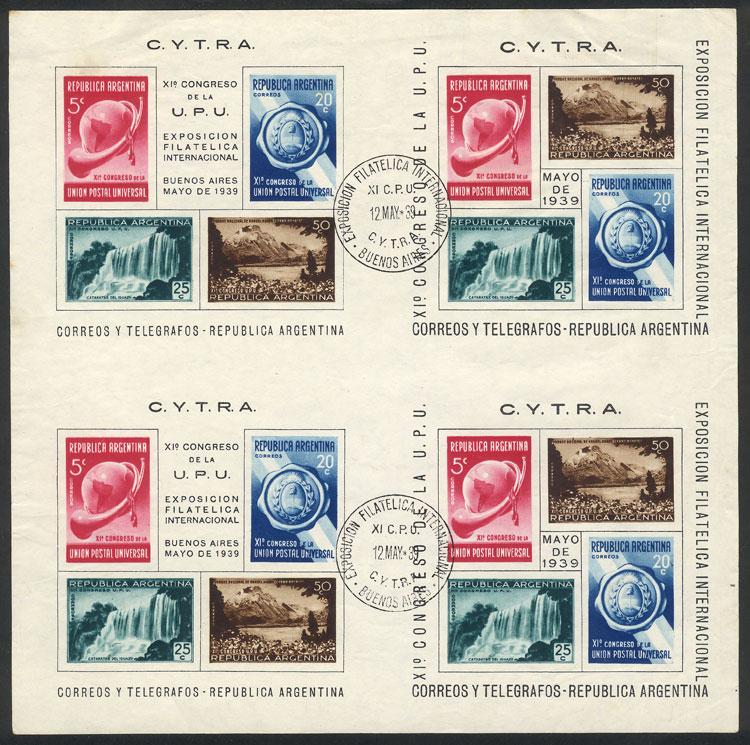 Lot 724 - Argentina souvenir sheets -  Guillermo Jalil - Philatino Auction # 2113 ARGENTINA: