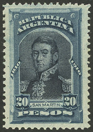 Lot 42 - Argentina general issues -  Guillermo Jalil - Philatino Auction # 2114 ARGENTINA: Small auction of late April