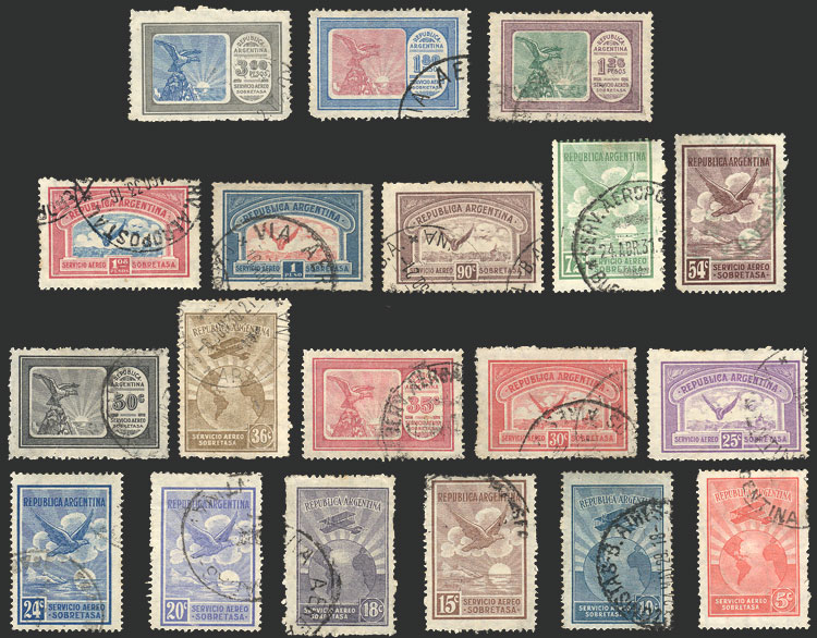 Lot 1382 - Argentina airmail -  Guillermo Jalil - Philatino Auction # 2116 ARGENTINA:
