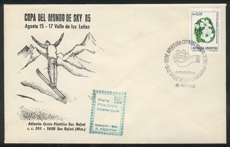 Lot 1895 - Argentina postal history -  Guillermo Jalil - Philatino Auction # 2116 ARGENTINA: