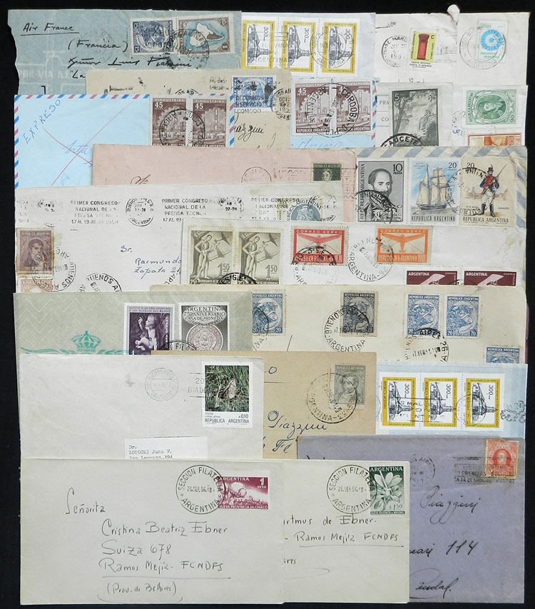 Lot 1809 - Argentina postal history -  Guillermo Jalil - Philatino Auction # 2116 ARGENTINA: