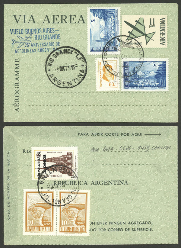 Lot 1882 - Argentina postal history -  Guillermo Jalil - Philatino Auction # 2116 ARGENTINA: