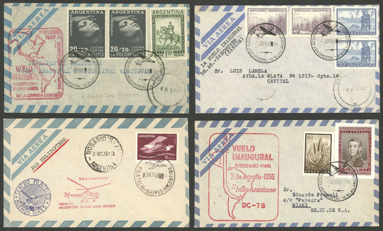 Lot 1850 - Argentina postal history -  Guillermo Jalil - Philatino Auction # 2116 ARGENTINA: