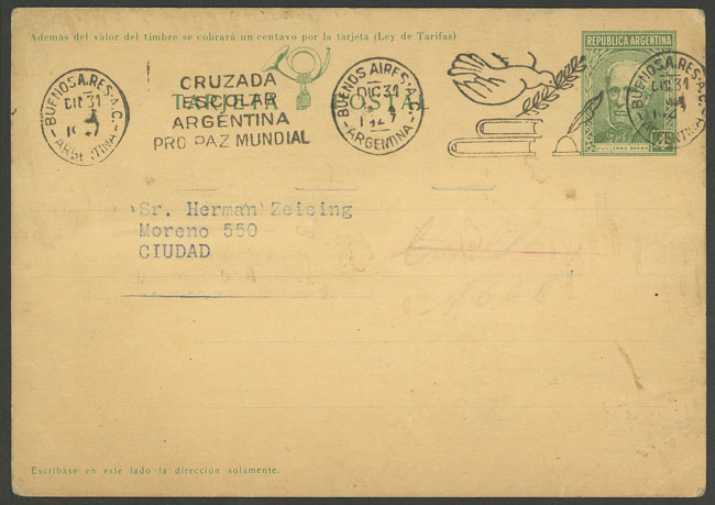 Lot 1834 - Argentina postal history -  Guillermo Jalil - Philatino Auction # 2116 ARGENTINA:
