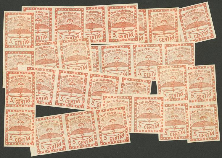 Lot 44 - Argentina confederation -  Guillermo Jalil - Philatino Auction # 2116 ARGENTINA: