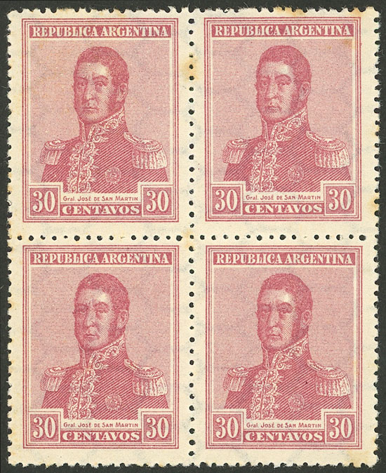 Lot 458 - Argentina general issues -  Guillermo Jalil - Philatino Auction # 2116 ARGENTINA: