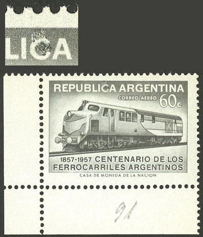 Lot 955 - Argentina general issues -  Guillermo Jalil - Philatino Auction # 2116 ARGENTINA: