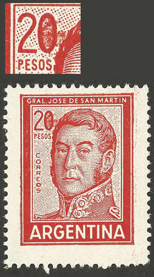 Lot 1077 - Argentina general issues -  Guillermo Jalil - Philatino Auction # 2116 ARGENTINA:
