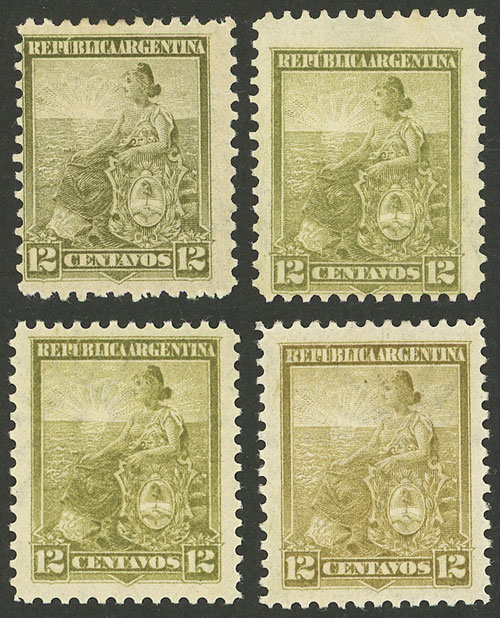 Lot 285 - Argentina general issues -  Guillermo Jalil - Philatino Auction # 2116 ARGENTINA: