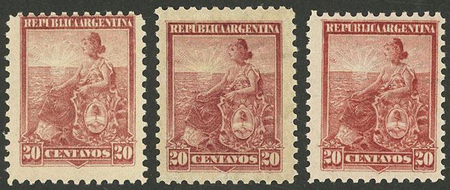 Lot 287 - Argentina general issues -  Guillermo Jalil - Philatino Auction # 2116 ARGENTINA: