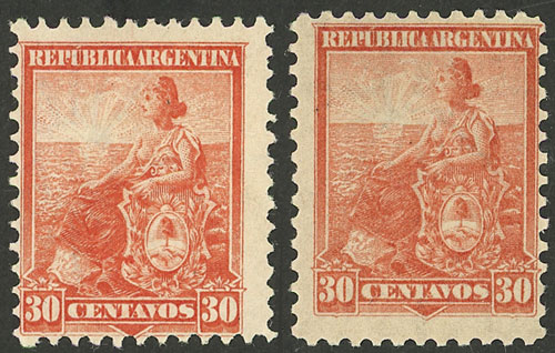 Lot 292 - Argentina general issues -  Guillermo Jalil - Philatino Auction # 2116 ARGENTINA: