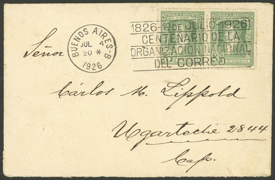 Lot 1807 - Argentina postal history -  Guillermo Jalil - Philatino Auction # 2116 ARGENTINA: