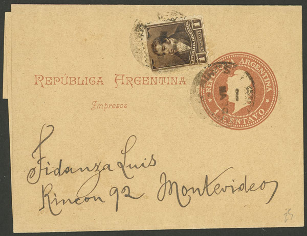Lot 1782 - Argentina postal history -  Guillermo Jalil - Philatino Auction # 2116 ARGENTINA: