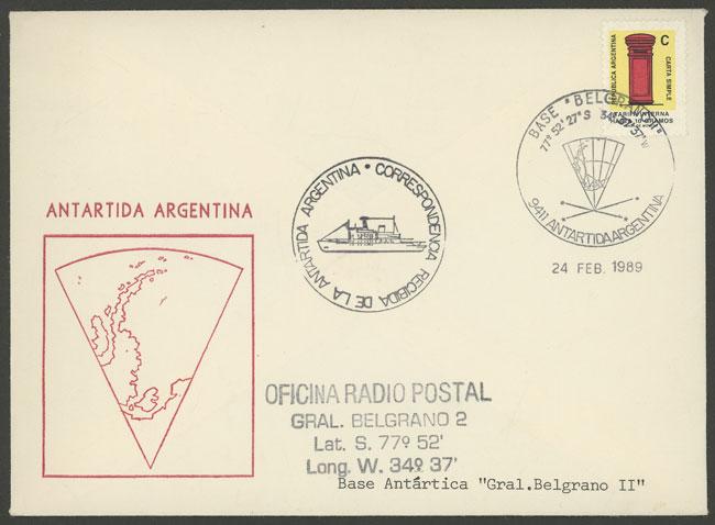 Lot 9 - argentine antarctica postal history -  Guillermo Jalil - Philatino Auction # 2116 ARGENTINA: