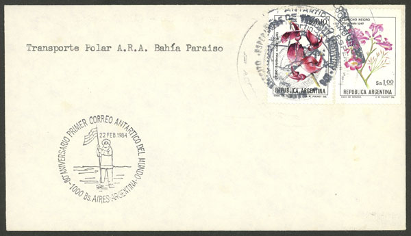 Lot 7 - argentine antarctica postal history -  Guillermo Jalil - Philatino Auction # 2116 ARGENTINA: