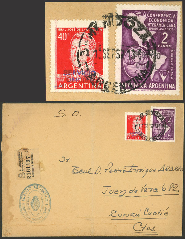 Lot 1672 - Argentina official stamps - postal history -  Guillermo Jalil - Philatino Auction # 2116 ARGENTINA: