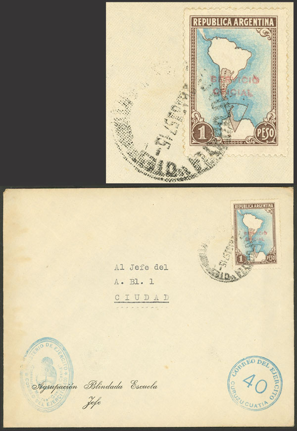 Lot 1671 - Argentina official stamps - postal history -  Guillermo Jalil - Philatino Auction # 2116 ARGENTINA: