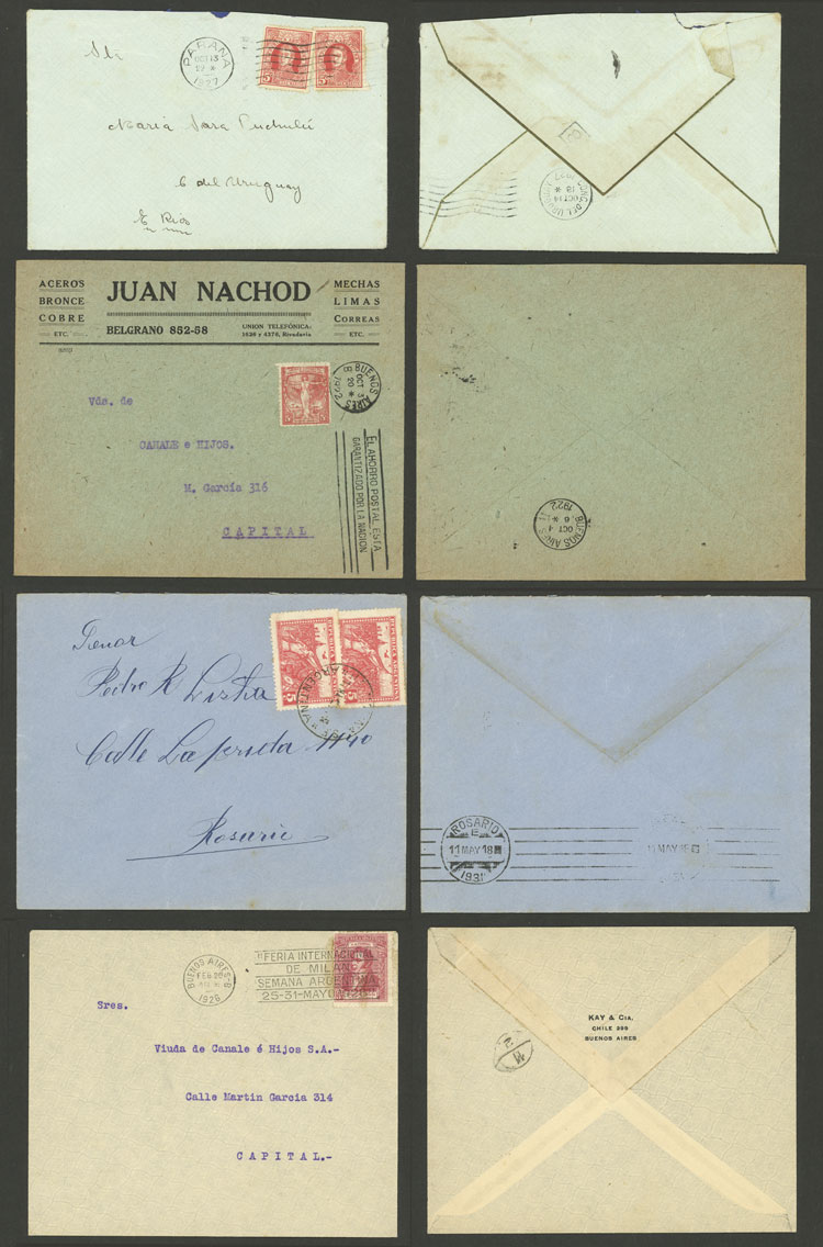 Lot 1794 - Argentina postal history -  Guillermo Jalil - Philatino Auction # 2116 ARGENTINA: