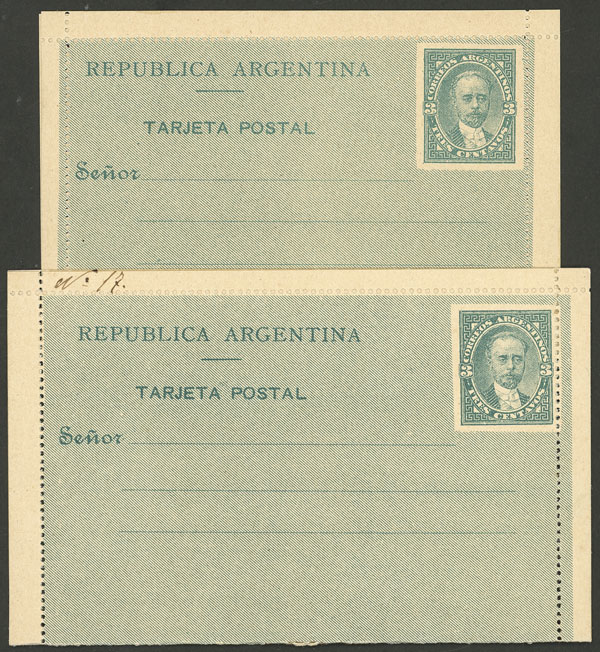 Lot 1707 - Argentina Postal stationery -  Guillermo Jalil - Philatino Auction # 2116 ARGENTINA: