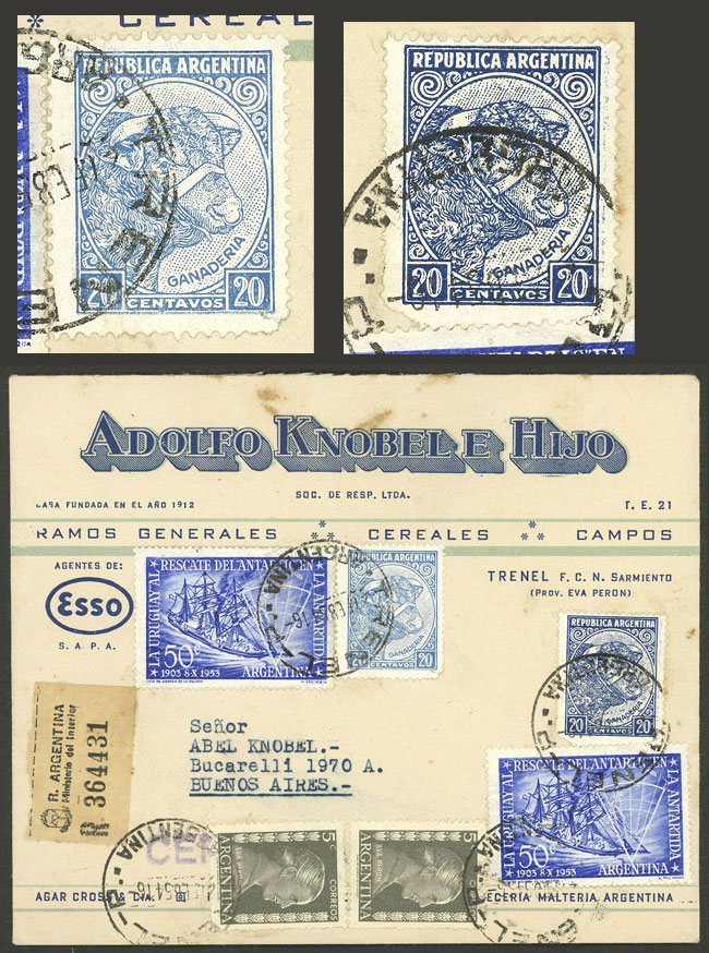 Lot 1846 - Argentina postal history -  Guillermo Jalil - Philatino Auction # 2116 ARGENTINA: