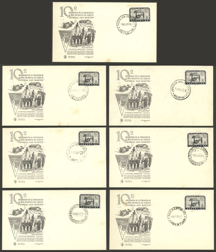 Lot 2 - argentine antarctica postal history -  Guillermo Jalil - Philatino Auction # 2116 ARGENTINA: