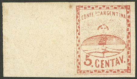 Lot 53 - Argentina confederation -  Guillermo Jalil - Philatino Auction # 2116 ARGENTINA: