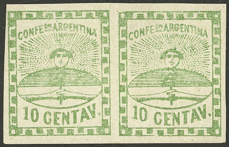 Lot 51 - Argentina confederation -  Guillermo Jalil - Philatino Auction # 2116 ARGENTINA: