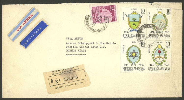 Lot 1875 - Argentina postal history -  Guillermo Jalil - Philatino Auction # 2116 ARGENTINA: