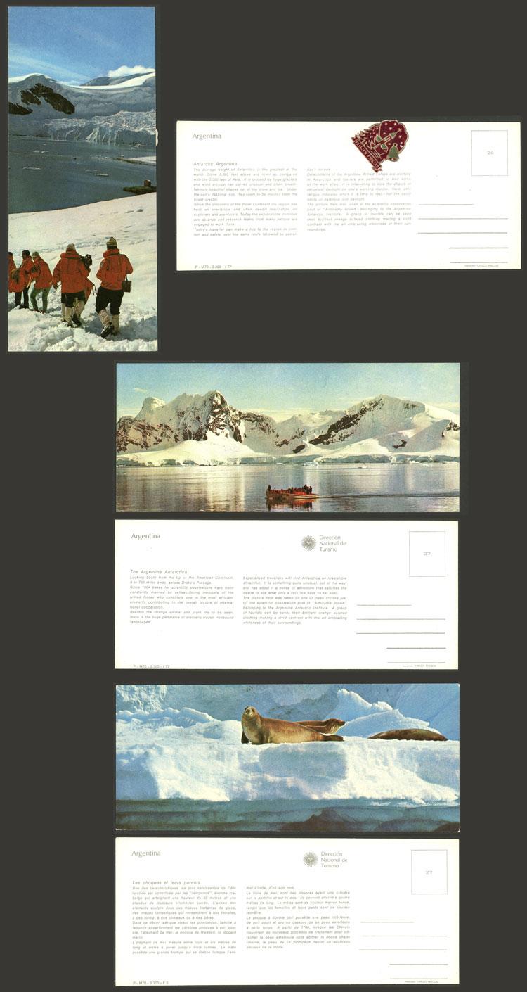 Lot 13 - argentine antarctica postcards -  Guillermo Jalil - Philatino Auction # 2116 ARGENTINA: